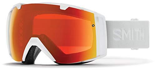 Smith Optics I/o Snow Goggles Chromapop with Extra Lens Included White Vapor/Red Mirror