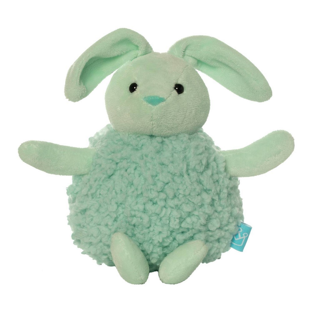 The Manhattan Toy Company Mini Puff Ball Rattle - Green Bunn