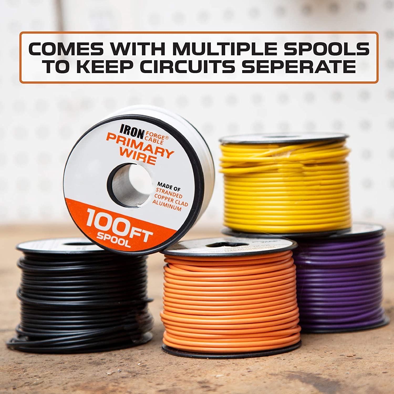 18 Gauge Automotive Wire 100 Ft Of Copper Clad Aluminum