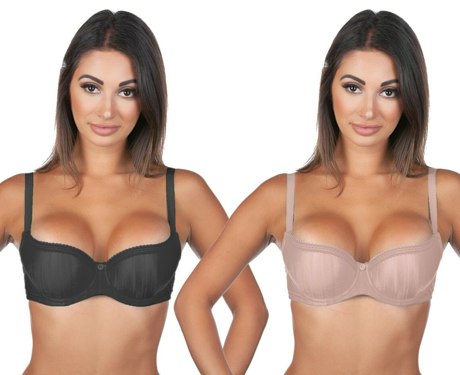 Details about  /Cleo by Panache 7201 Maddie Balconnet T-Shirt Bra Nude  US Size 28K