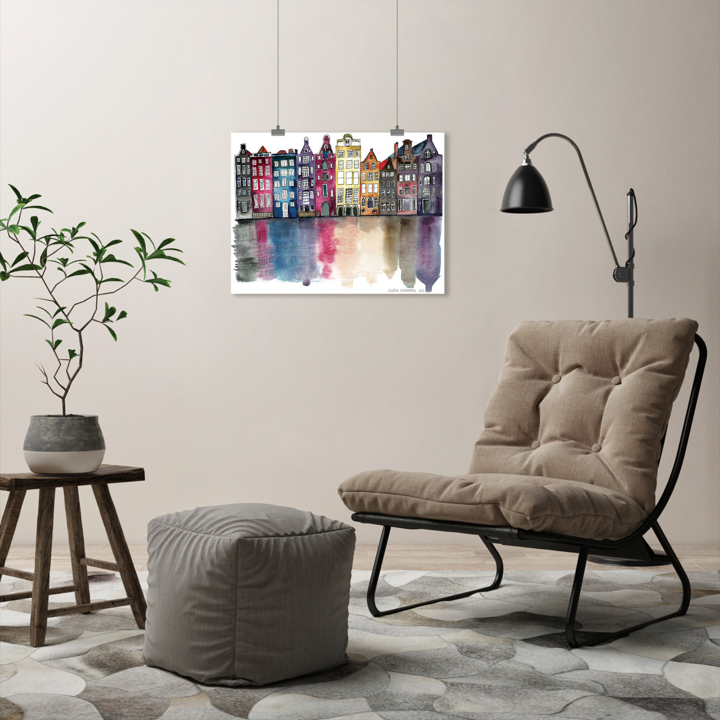 miniature 48 - Americanflat Amsterdam by Claudia Liebenberg - Poster
