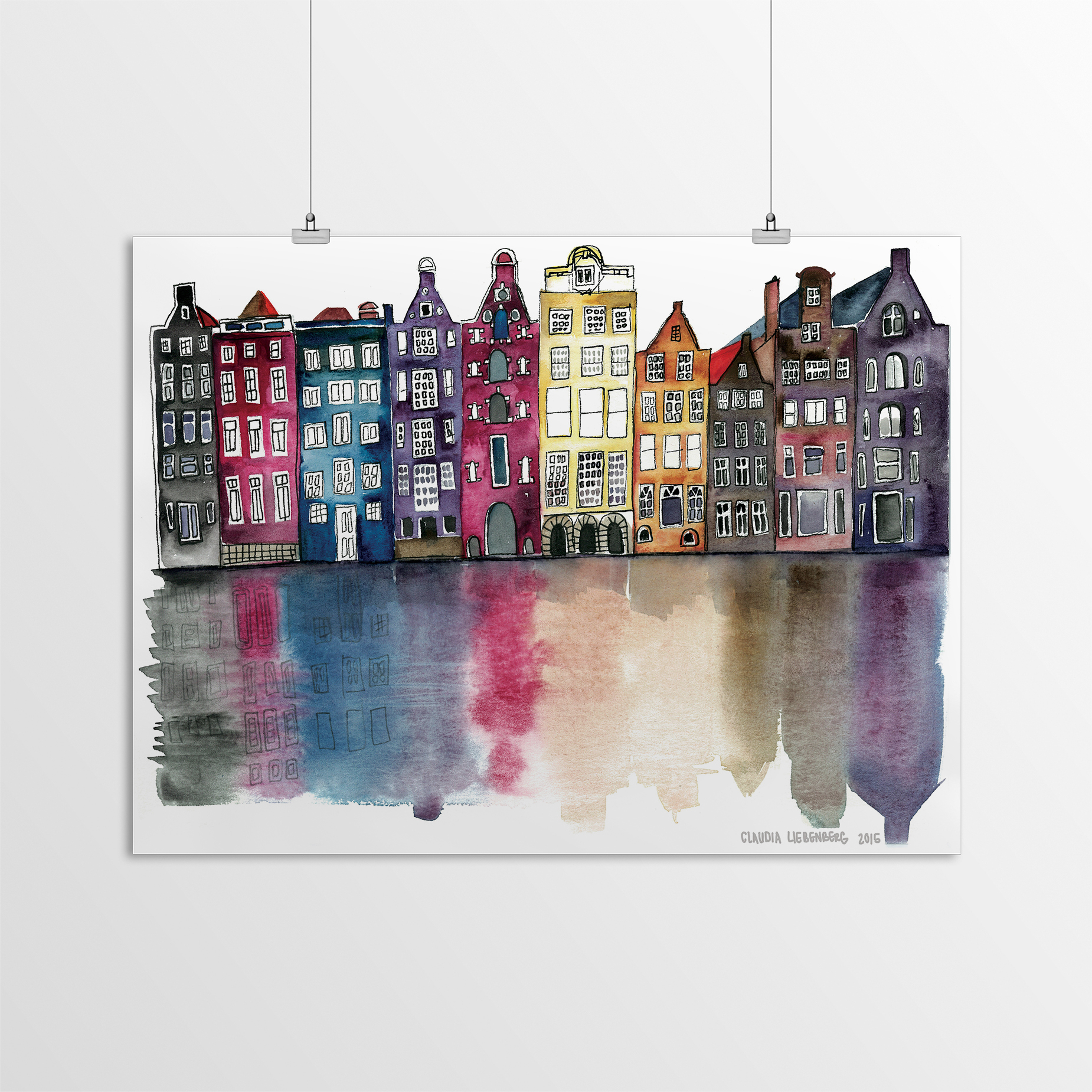 miniature 45 - Americanflat Amsterdam by Claudia Liebenberg - Poster