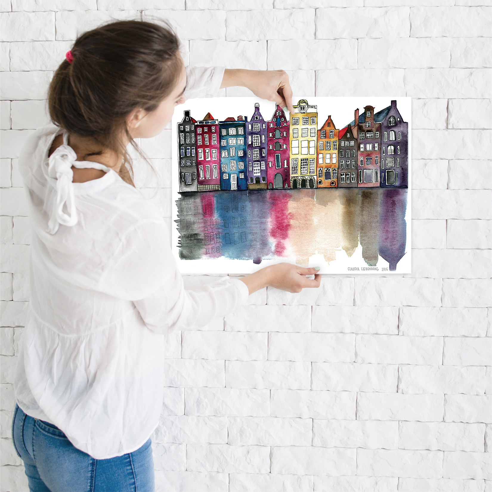 miniature 44 - Americanflat Amsterdam by Claudia Liebenberg - Poster