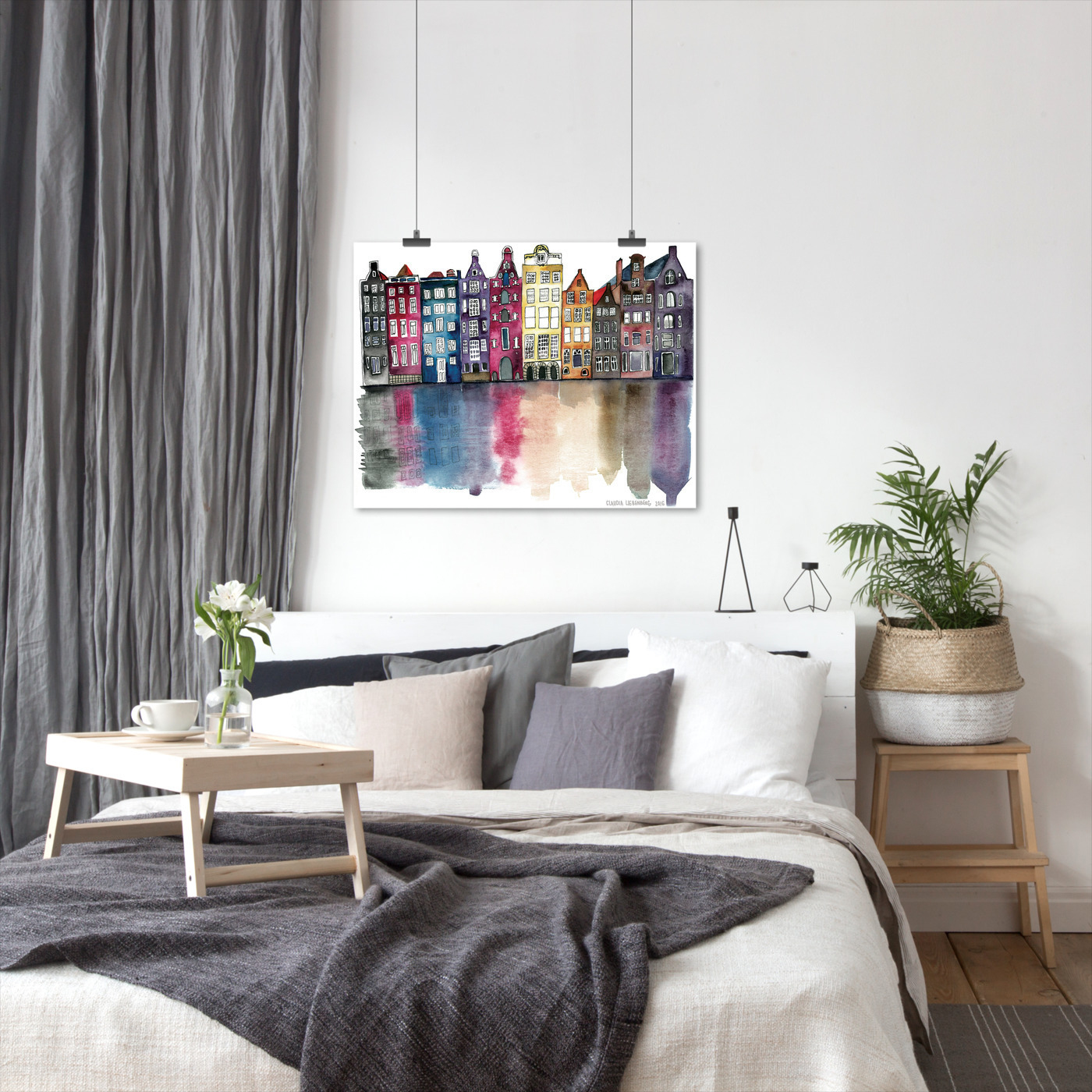 miniature 47 - Americanflat Amsterdam by Claudia Liebenberg - Poster