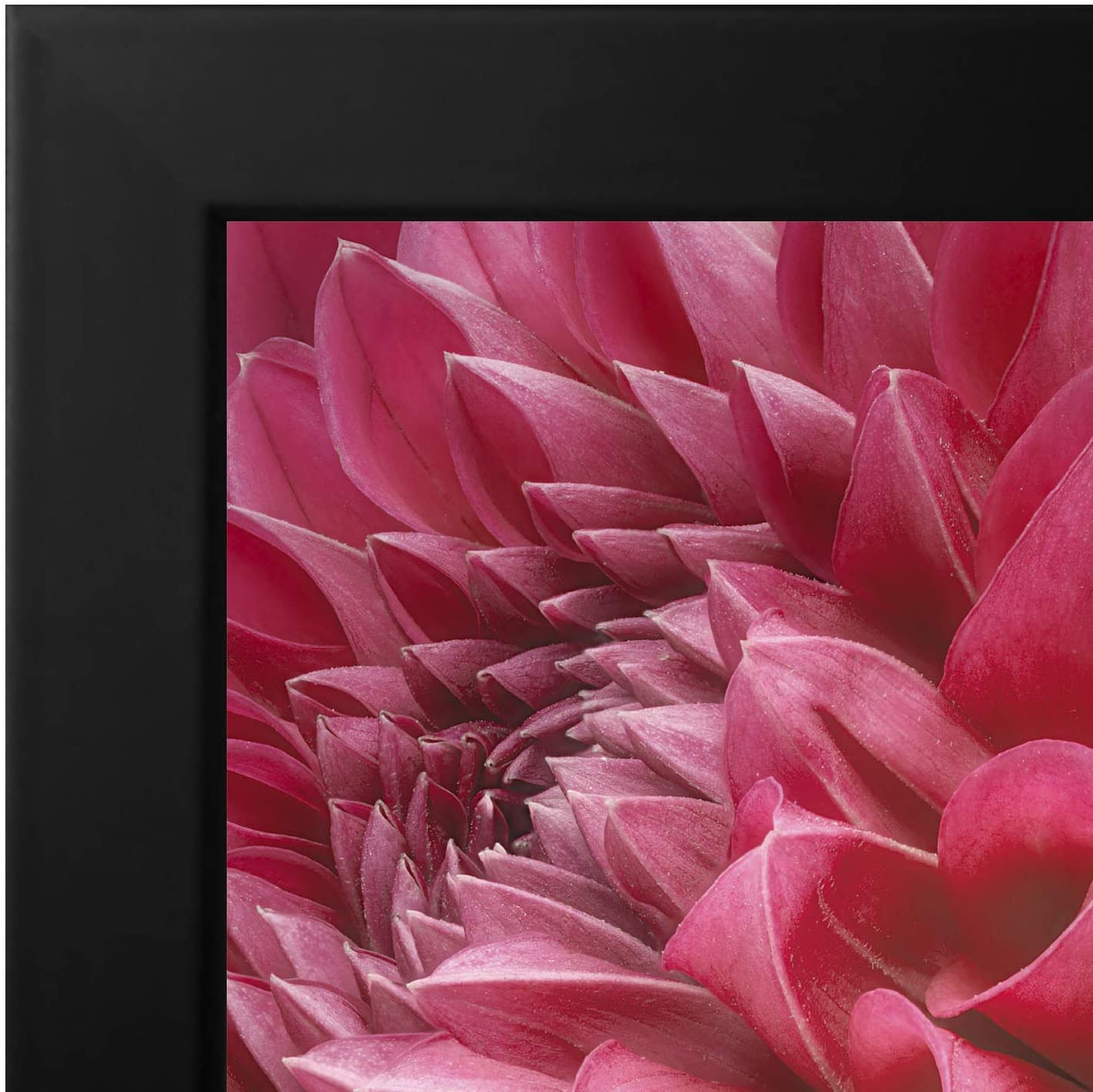miniature 21 - Americanflat Picture Frame in Black Wood - Shatter Resistant Glass