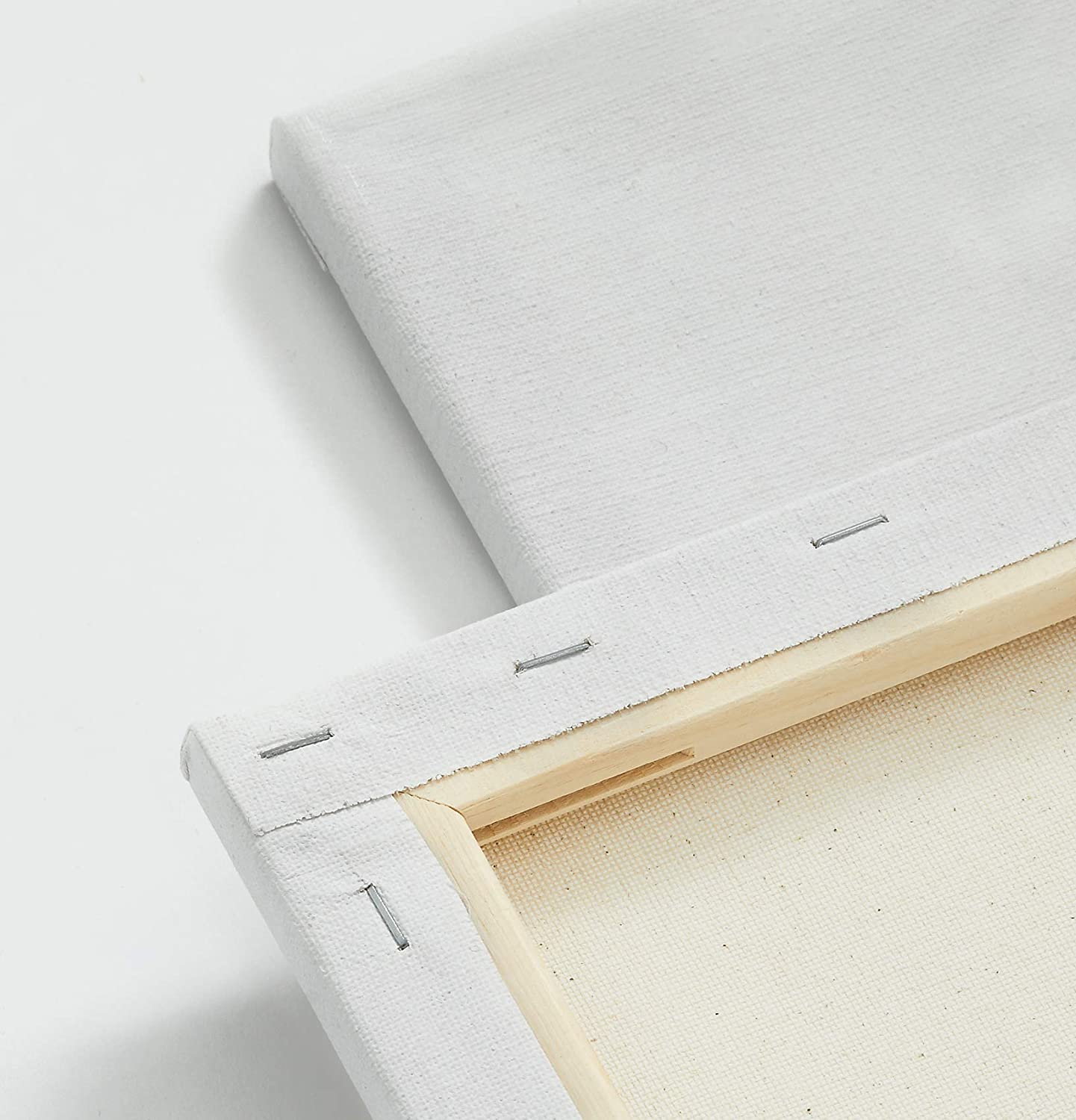 miniature 11 - Americanflat Stretched Canvas in White 100% Cotton Wooden Frames & Acid Free