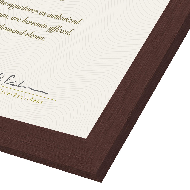 "miniature 7 - Americanflat Diploma Frame Tempered Glass - Hanging Hardware - 8.5"" x 11"""