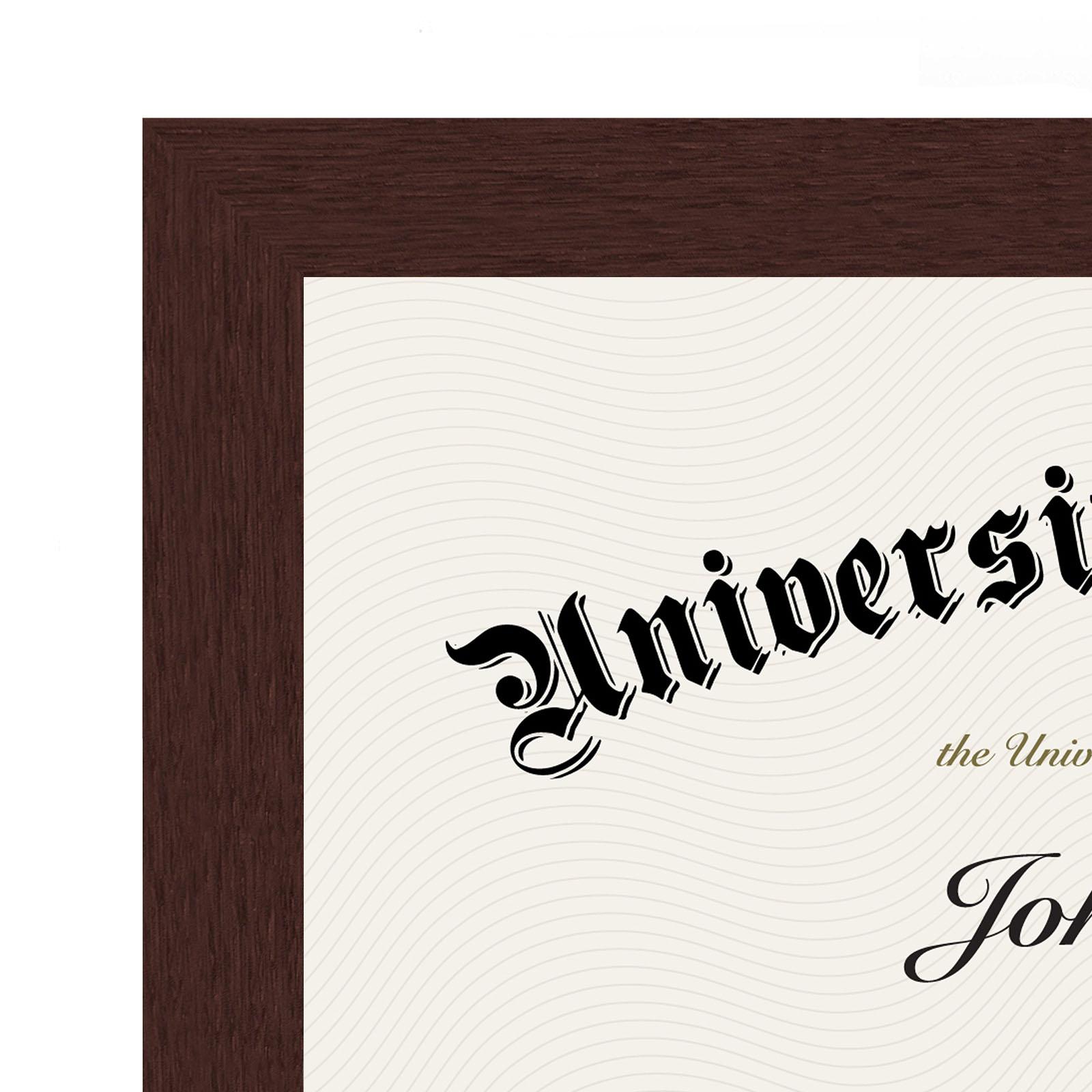 "miniature 8 - Americanflat Diploma Frame Tempered Glass - Hanging Hardware - 8.5"" x 11"""