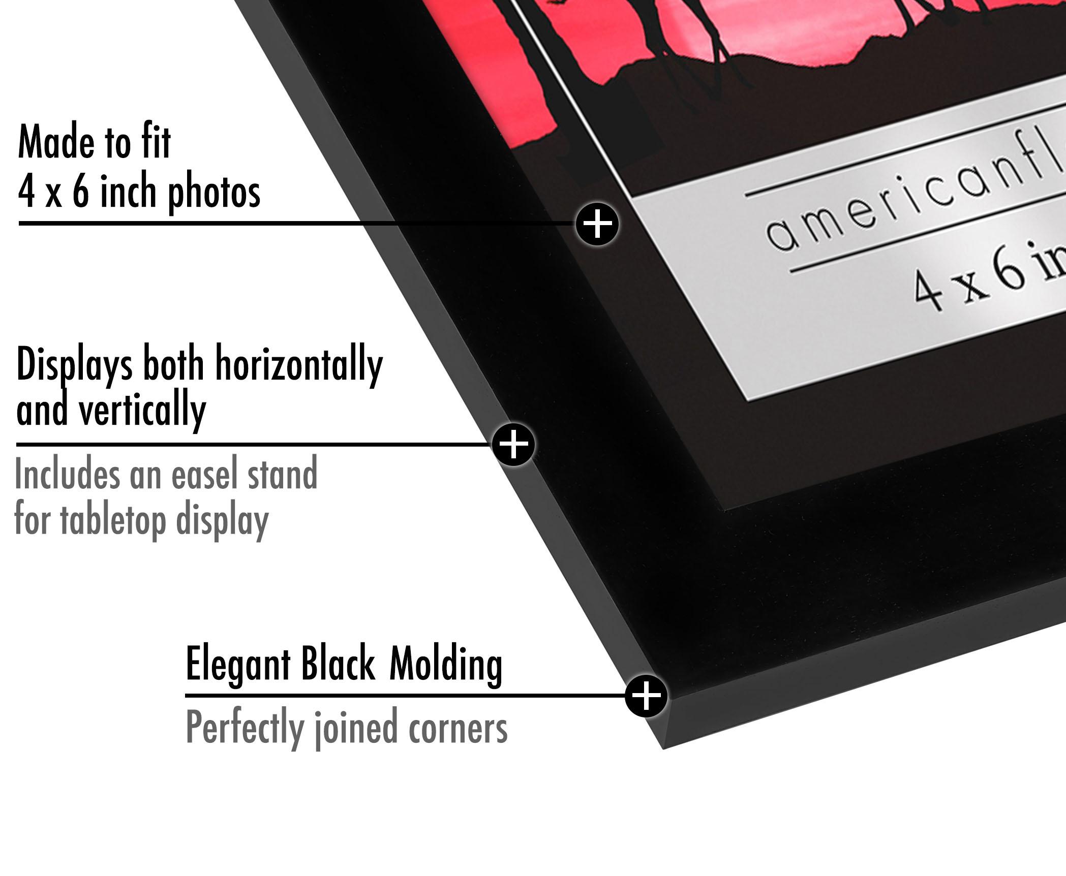 miniature 3 - Americanflat-Noir-Cadre-Photo-6-Pack-Disponible-en-4x6-5x7-8x10