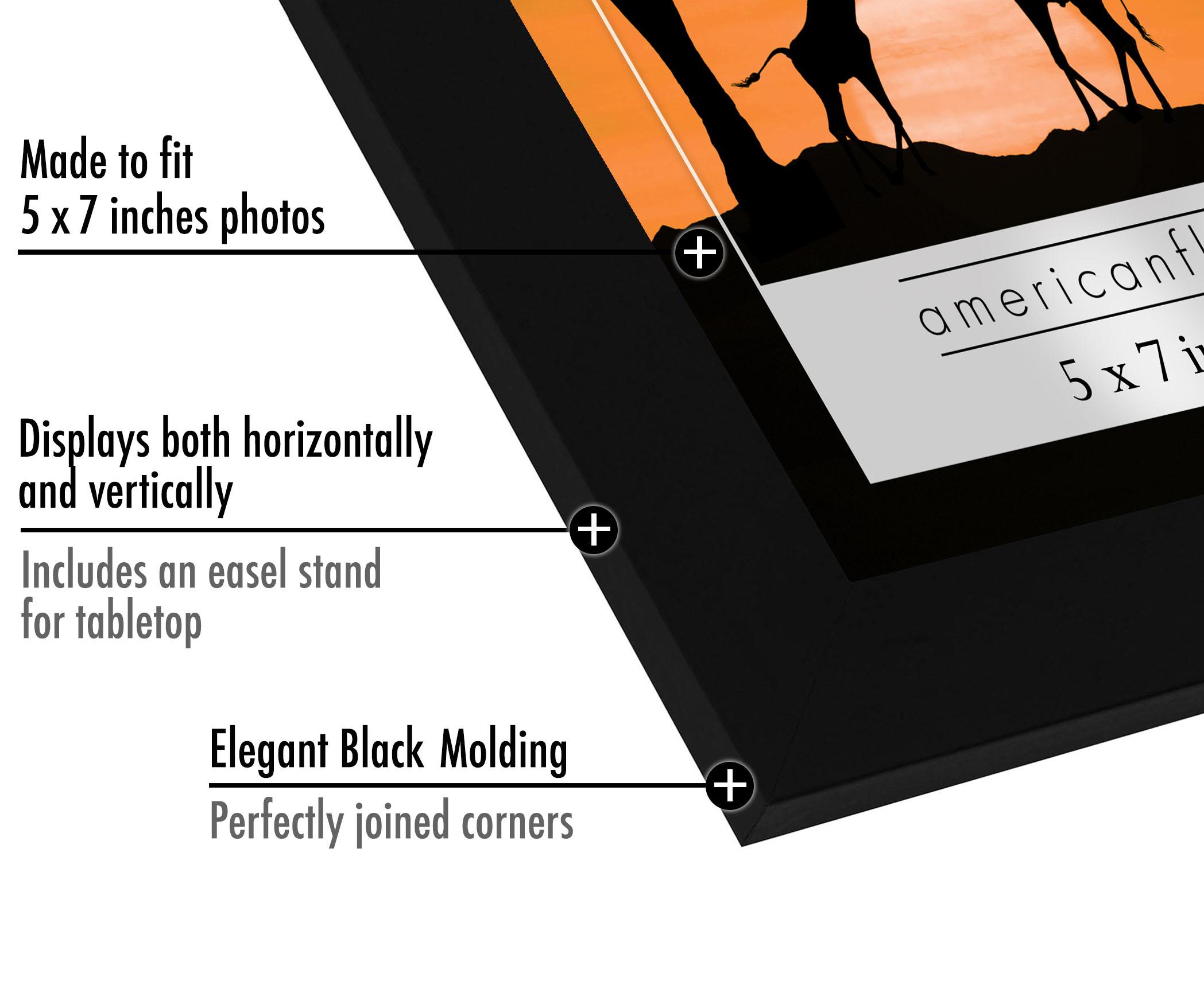 miniature 8 - Americanflat-Noir-Cadre-Photo-6-Pack-Disponible-en-4x6-5x7-8x10