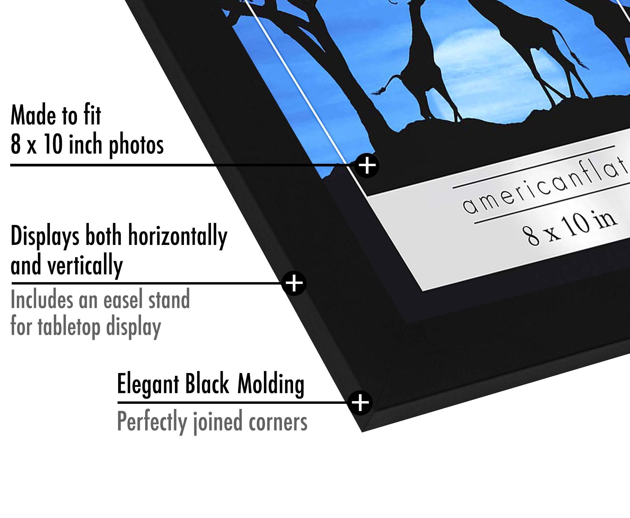 miniature 11 - Americanflat-Noir-Cadre-Photo-6-Pack-Disponible-en-4x6-5x7-8x10