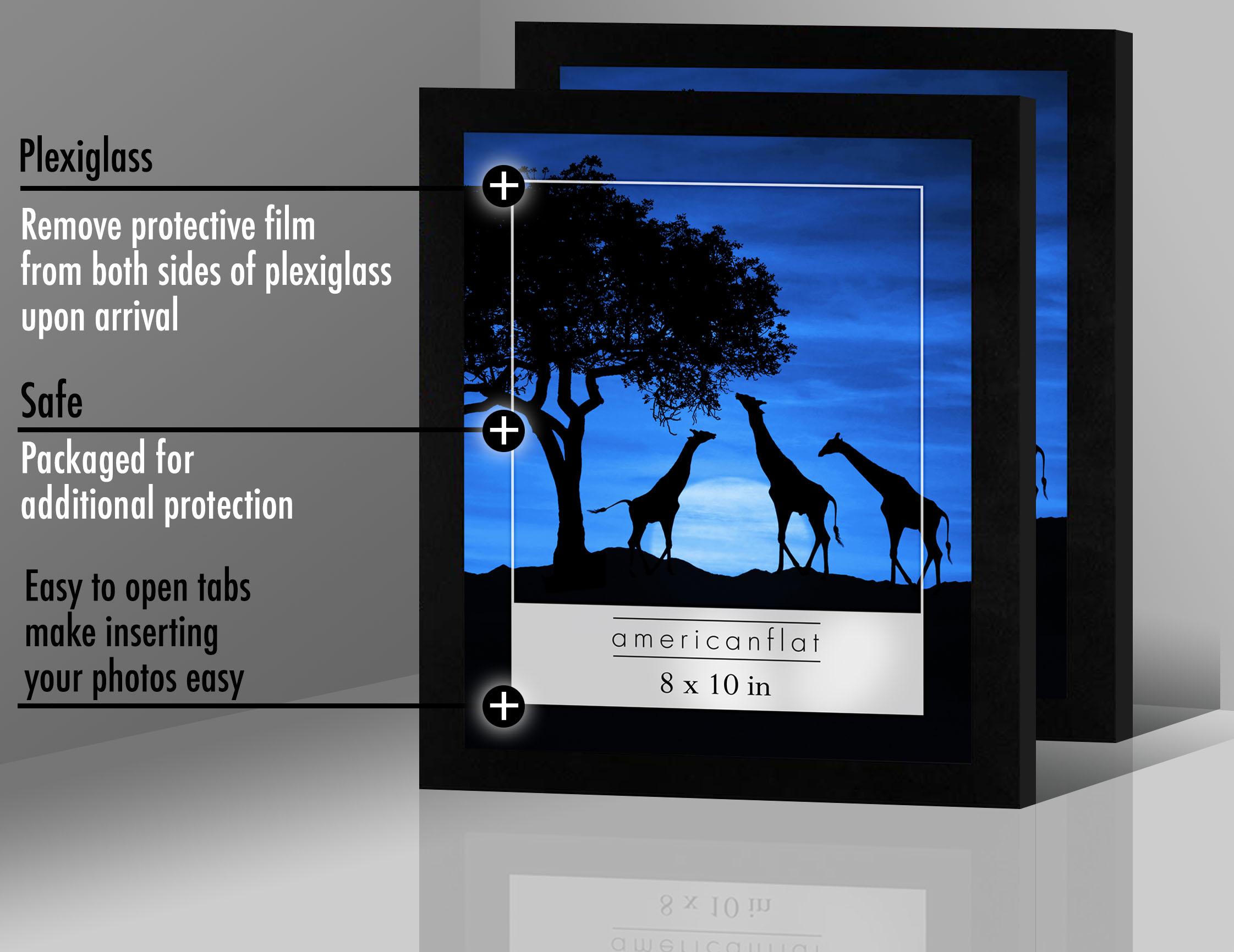 miniature 12 - Americanflat-Noir-Cadre-Photo-6-Pack-Disponible-en-4x6-5x7-8x10