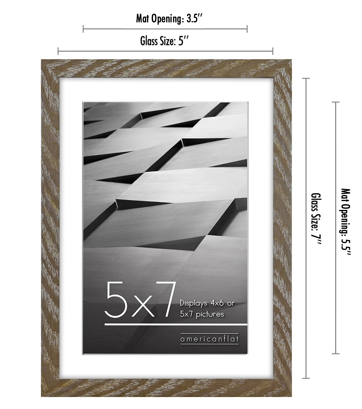 miniature 15 - Americanflat Thin Picture Frame 5x7 8x10 11x14 8.5x11 Wall Tabletop Pick Color