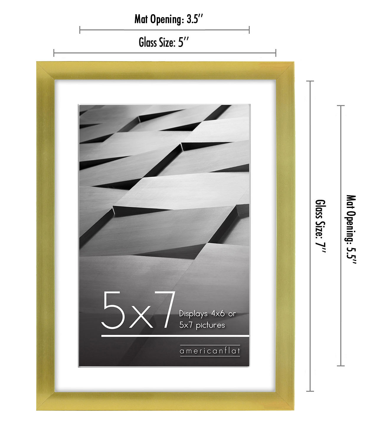 miniature 27 - Americanflat Thin Picture Frame 5x7 8x10 11x14 8.5x11 Wall Tabletop Pick Color