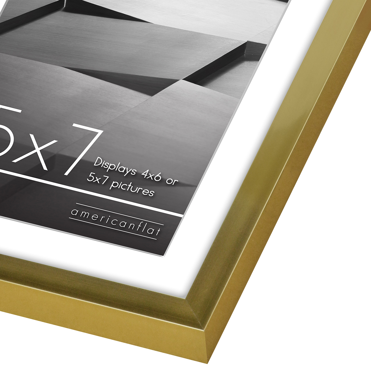 miniature 31 - Americanflat Thin Picture Frame 5x7 8x10 11x14 8.5x11 Wall Tabletop Pick Color
