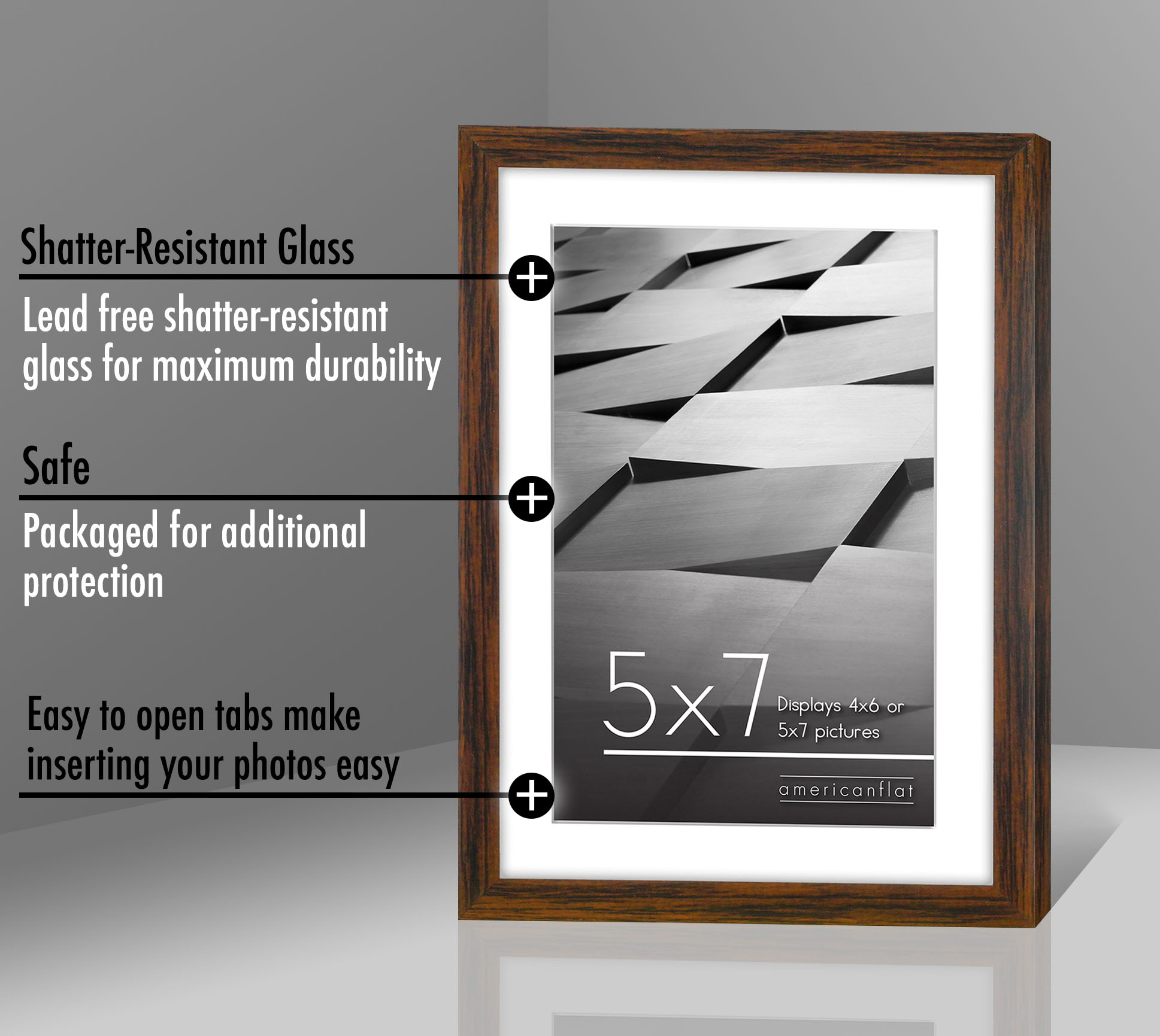 miniature 53 - Americanflat Thin Picture Frame 5x7 8x10 11x14 8.5x11 Wall Tabletop Pick Color