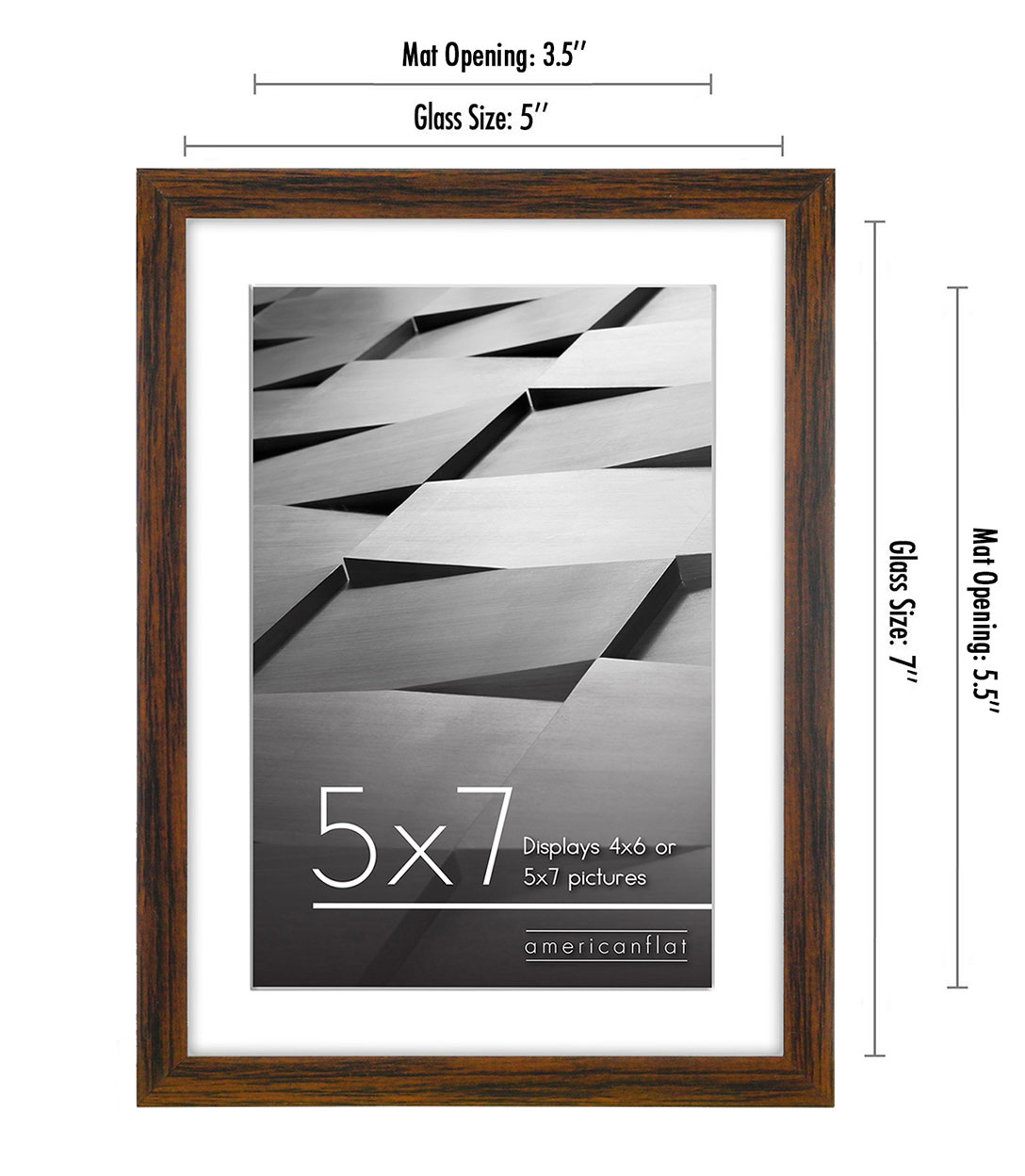 miniature 51 - Americanflat Thin Picture Frame 5x7 8x10 11x14 8.5x11 Wall Tabletop Pick Color