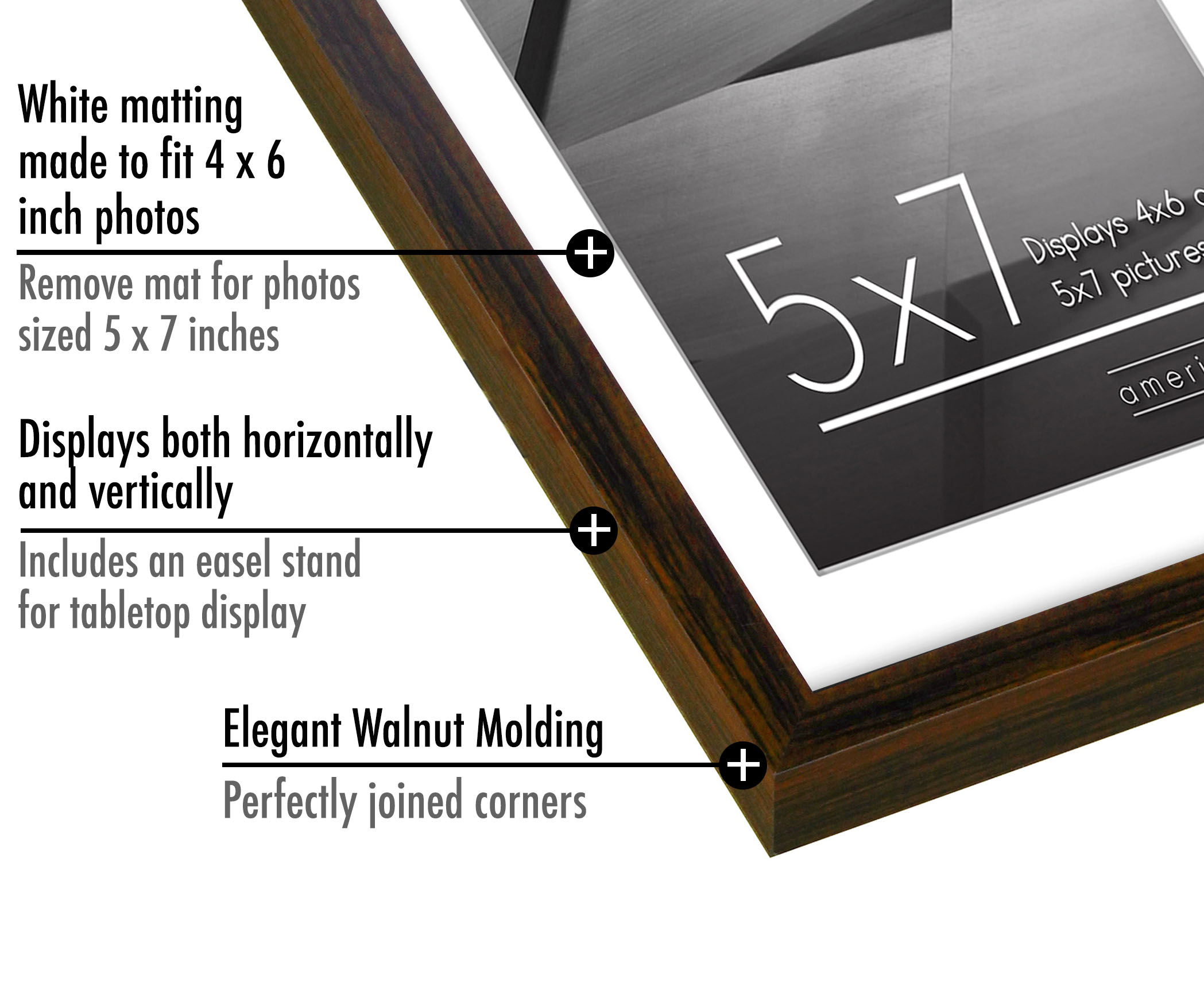 miniature 52 - Americanflat Thin Picture Frame 5x7 8x10 11x14 8.5x11 Wall Tabletop Pick Color
