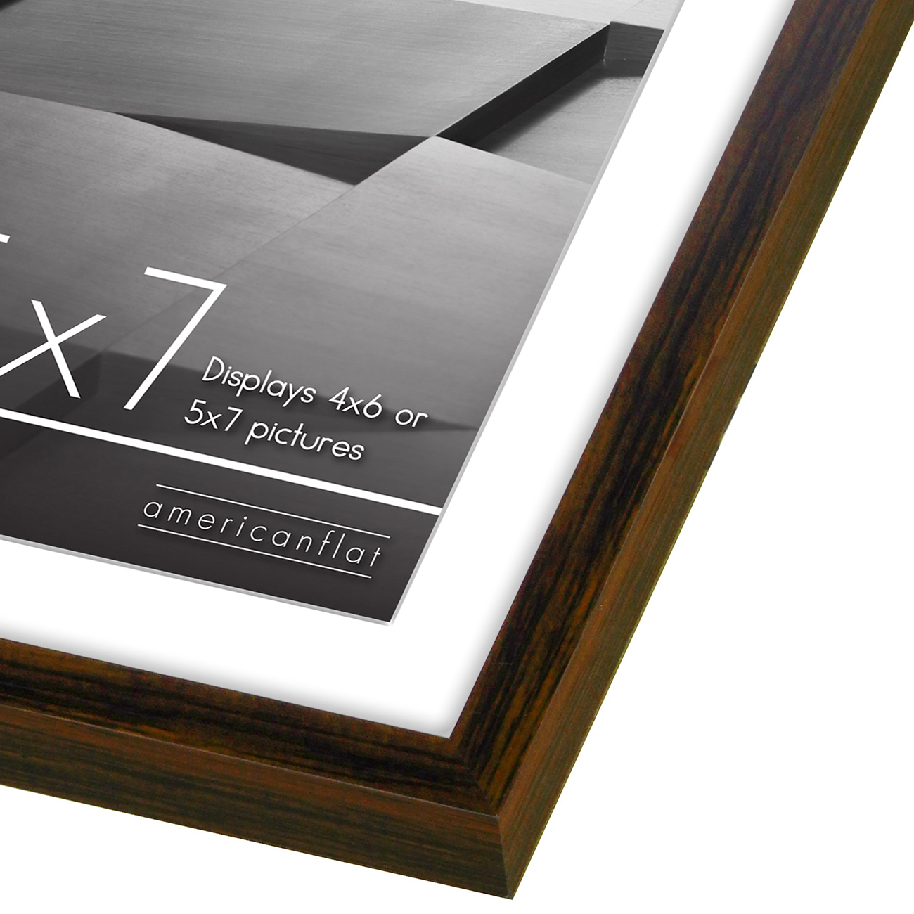 miniature 55 - Americanflat Thin Picture Frame 5x7 8x10 11x14 8.5x11 Wall Tabletop Pick Color