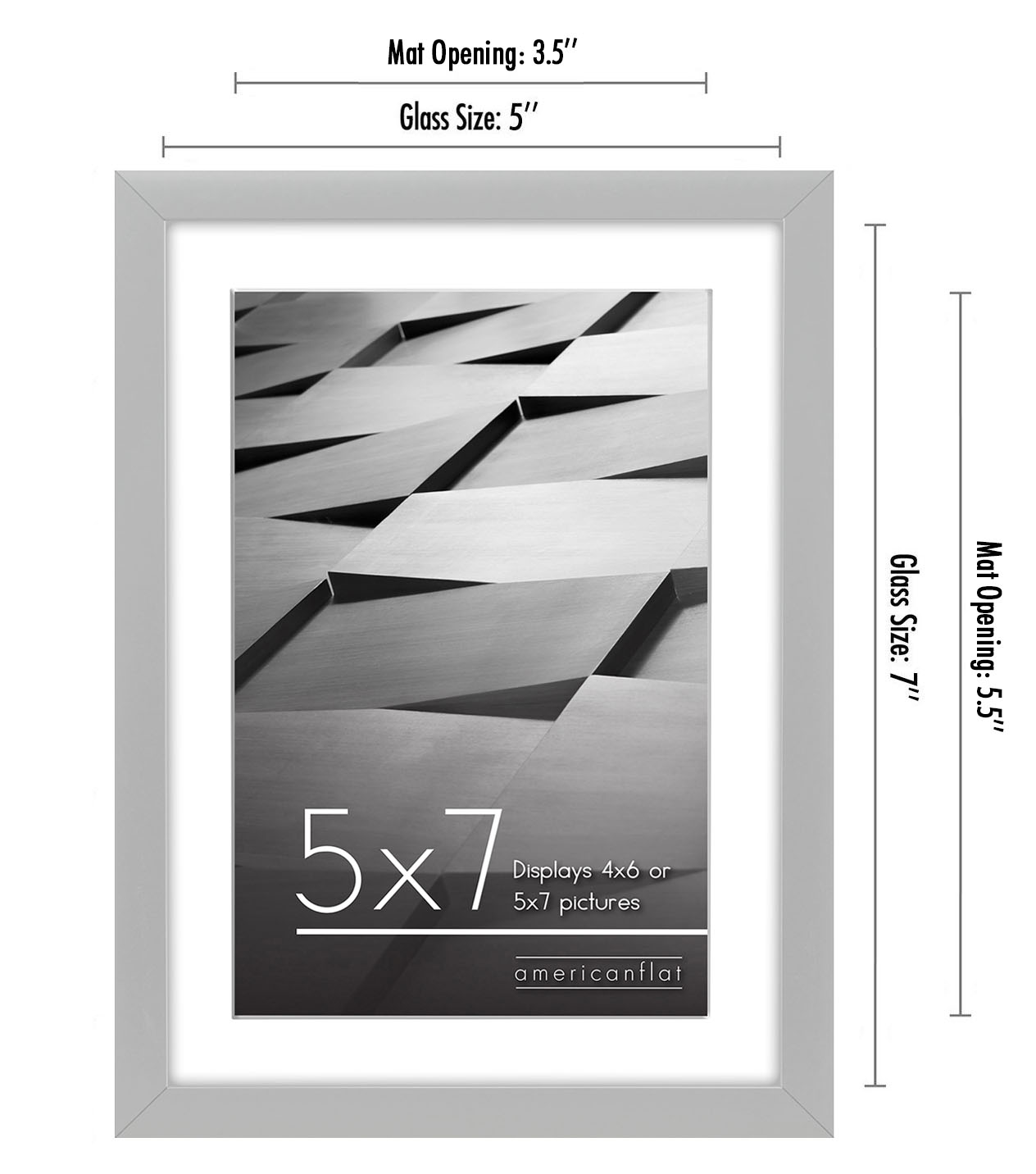 miniature 63 - Americanflat Thin Picture Frame 5x7 8x10 11x14 8.5x11 Wall Tabletop Pick Color