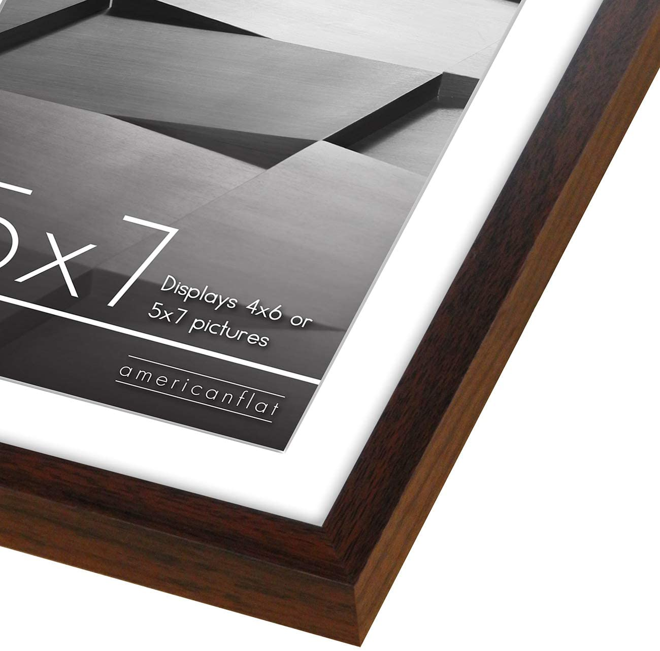 miniature 79 - Americanflat Thin Picture Frame 5x7 8x10 11x14 8.5x11 Wall Tabletop Pick Color