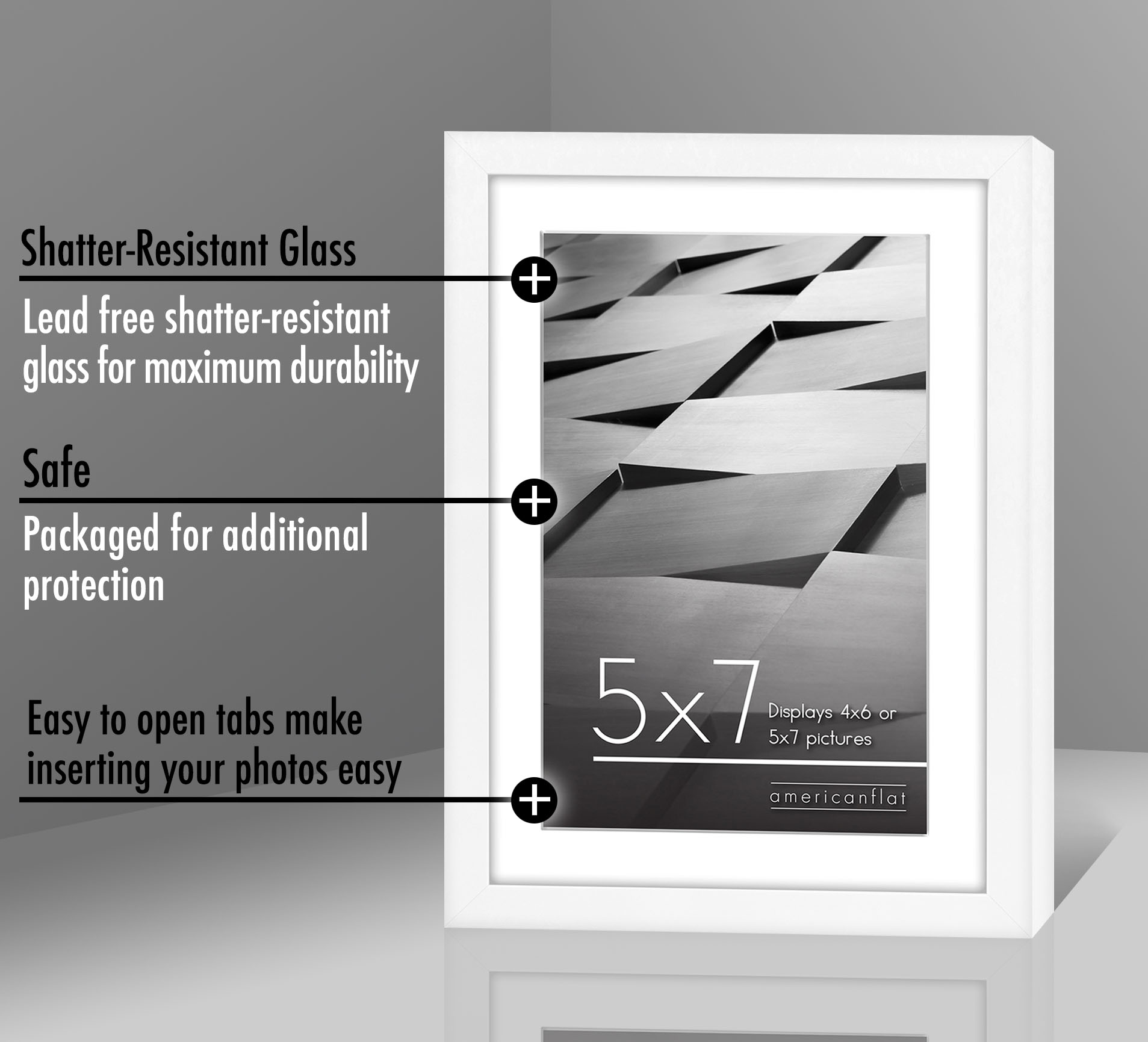 miniature 89 - Americanflat Thin Picture Frame 5x7 8x10 11x14 8.5x11 Wall Tabletop Pick Color