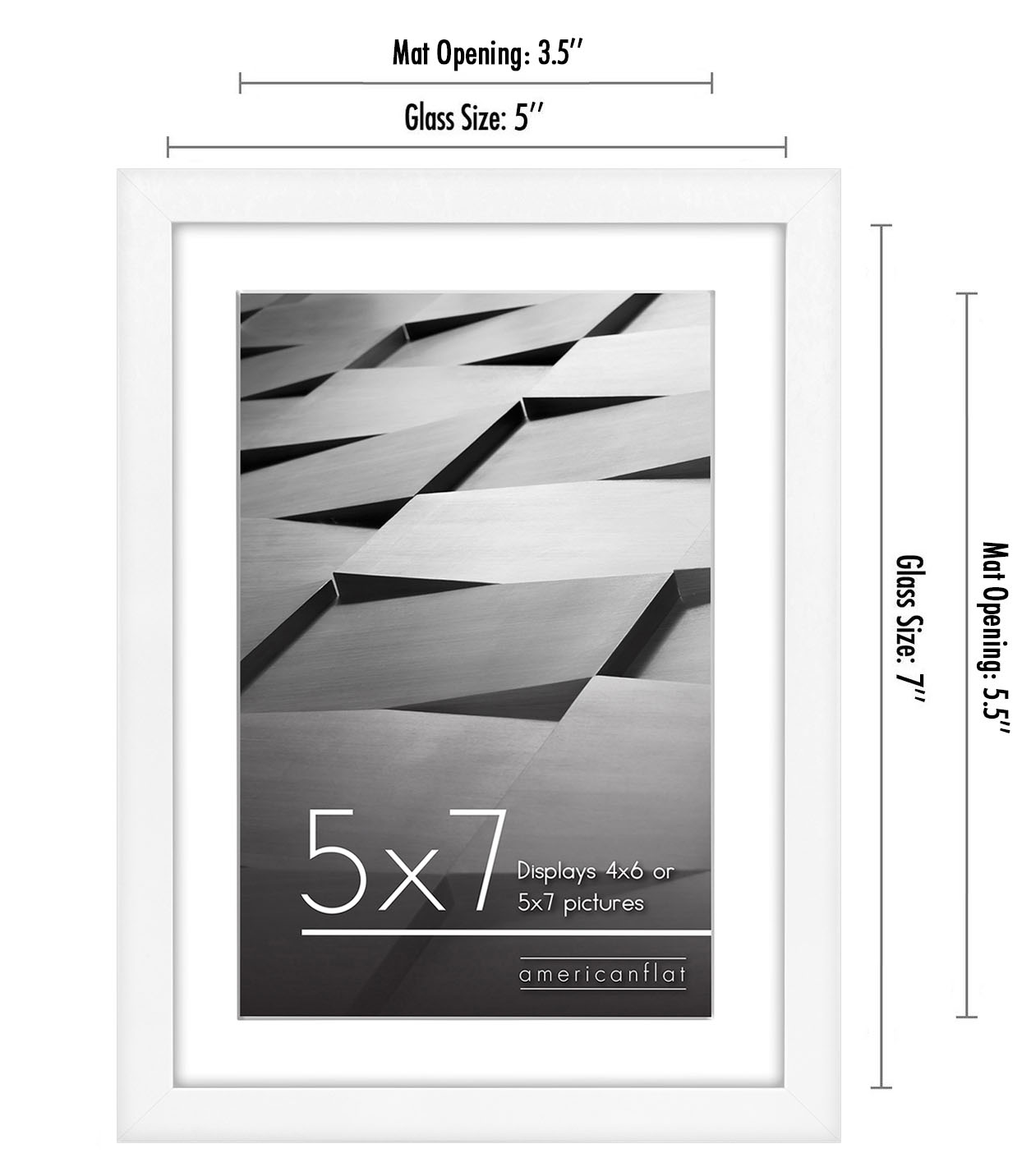 miniature 87 - Americanflat Thin Picture Frame 5x7 8x10 11x14 8.5x11 Wall Tabletop Pick Color