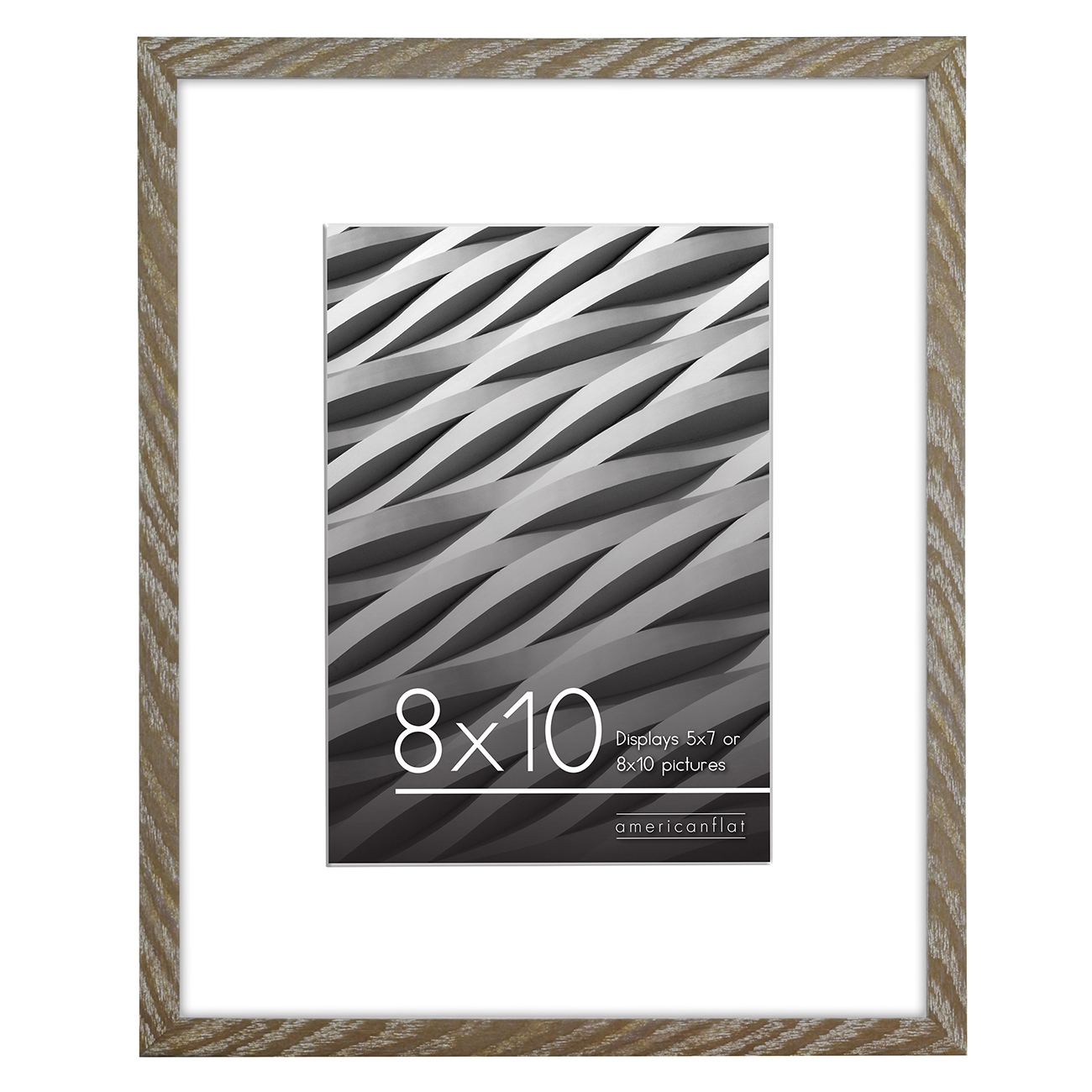 miniature 20 - Americanflat Thin Picture Frame 5x7 8x10 11x14 8.5x11 Wall Tabletop Pick Color