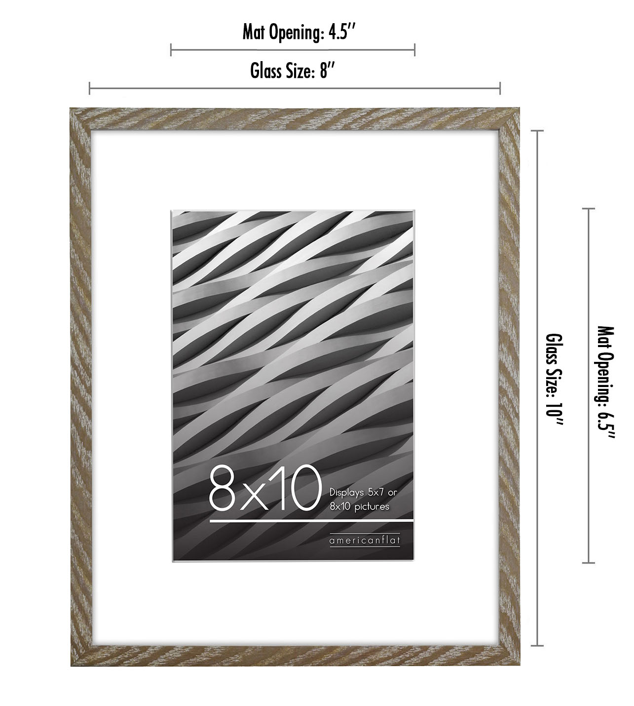 miniature 21 - Americanflat Thin Picture Frame 5x7 8x10 11x14 8.5x11 Wall Tabletop Pick Color