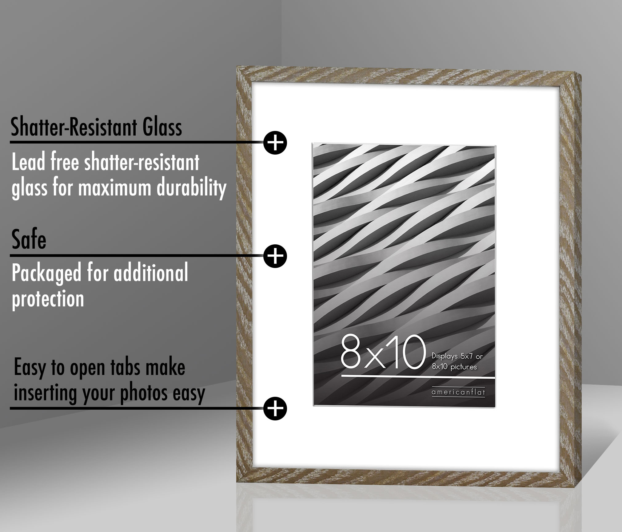 miniature 23 - Americanflat Thin Picture Frame 5x7 8x10 11x14 8.5x11 Wall Tabletop Pick Color