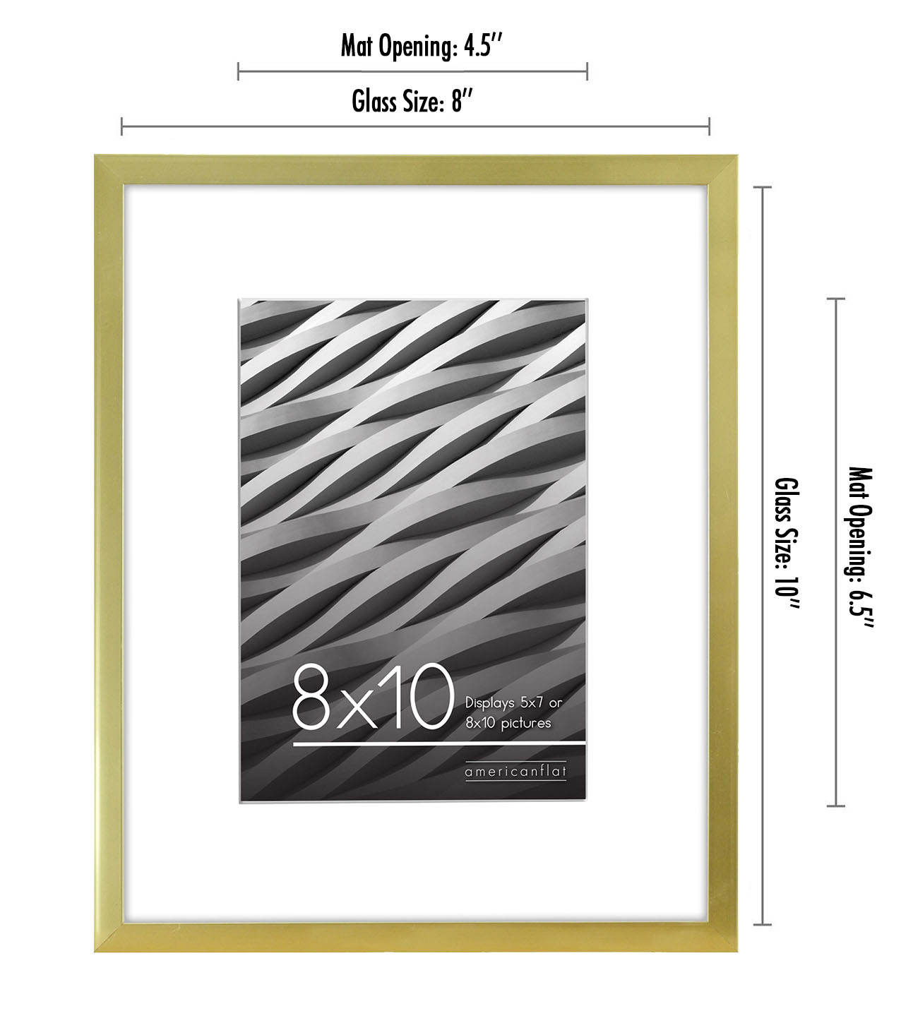 miniature 33 - Americanflat Thin Picture Frame 5x7 8x10 11x14 8.5x11 Wall Tabletop Pick Color