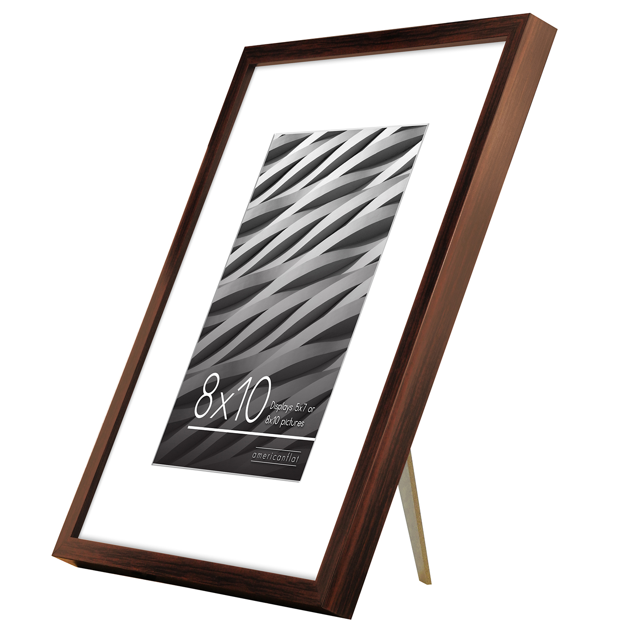 miniature 57 - Americanflat Thin Picture Frame 5x7 8x10 11x14 8.5x11 Wall Tabletop Pick Color