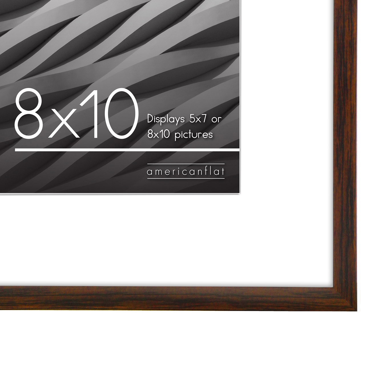 miniature 58 - Americanflat Thin Picture Frame 5x7 8x10 11x14 8.5x11 Wall Tabletop Pick Color
