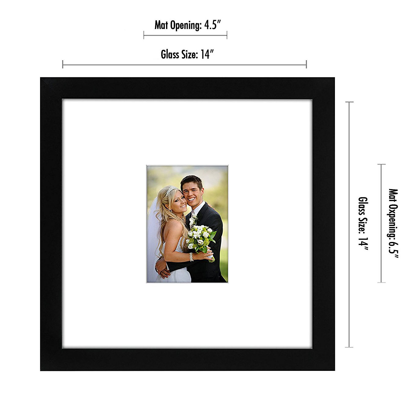 miniature 3 - 14x14 Wedding Signature Picture Frame Display Pictures 5x7 or 14x14 Without Mat