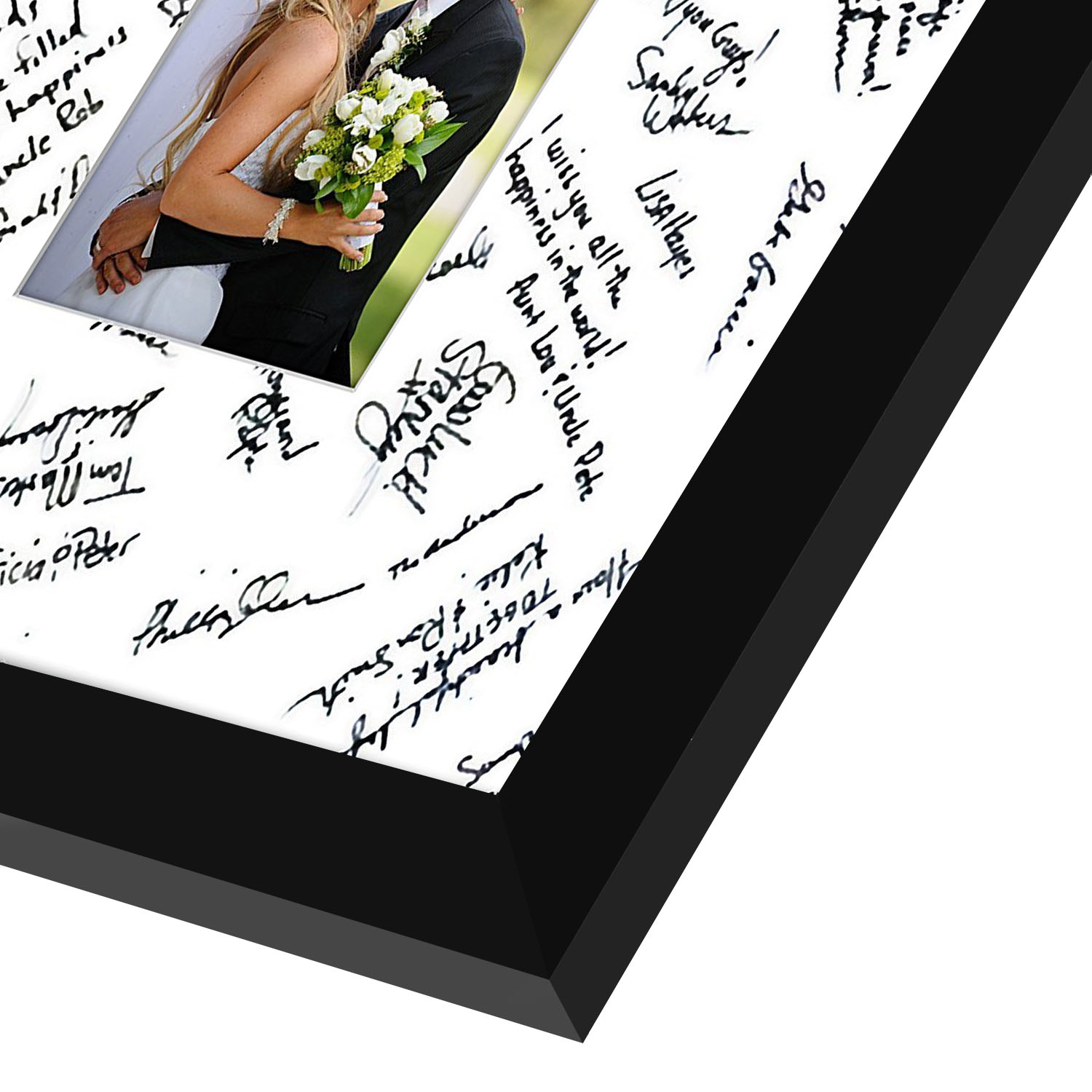 miniature 7 - 14x14 Wedding Signature Picture Frame Display Pictures 5x7 or 14x14 Without Mat