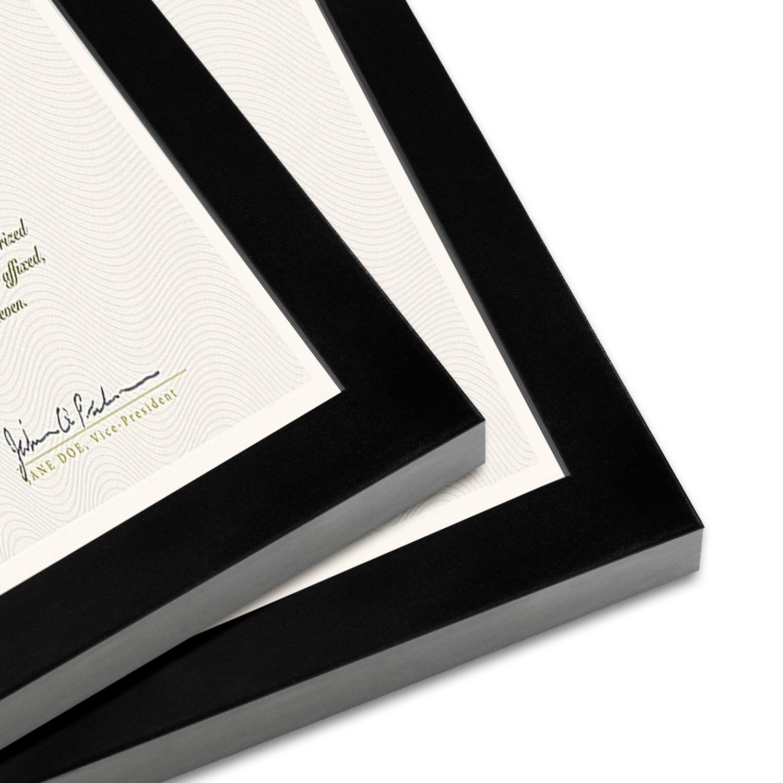 "miniature 19 - Americanflat Diploma Frame Tempered Glass - Hanging Hardware - 8.5"" x 11"""
