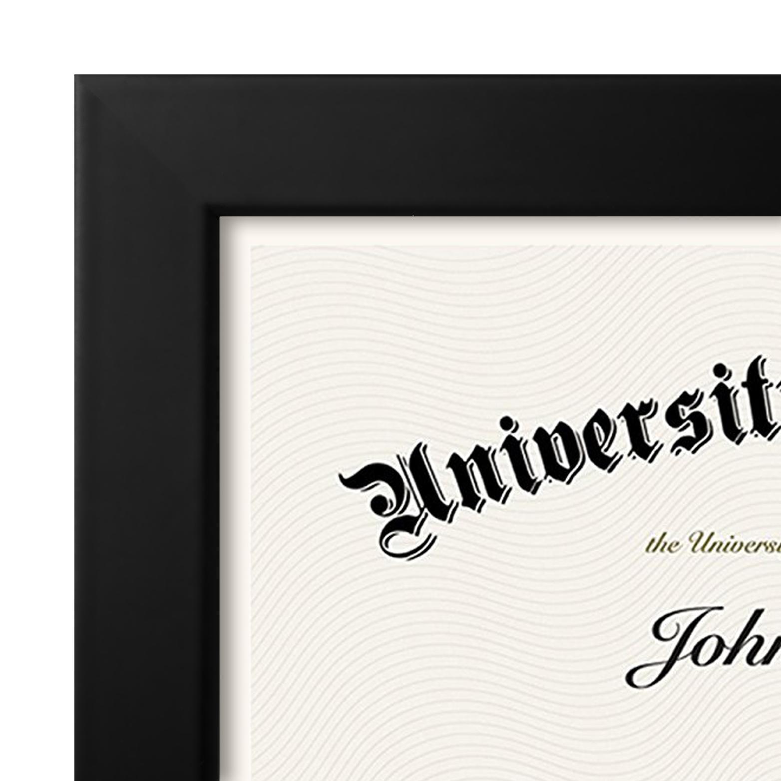 "miniature 20 - Americanflat Diploma Frame Tempered Glass - Hanging Hardware - 8.5"" x 11"""