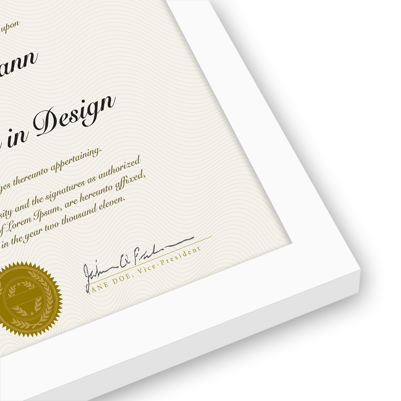 "miniature 29 - Americanflat Diploma Frame Tempered Glass - Hanging Hardware - 8.5"" x 11"""