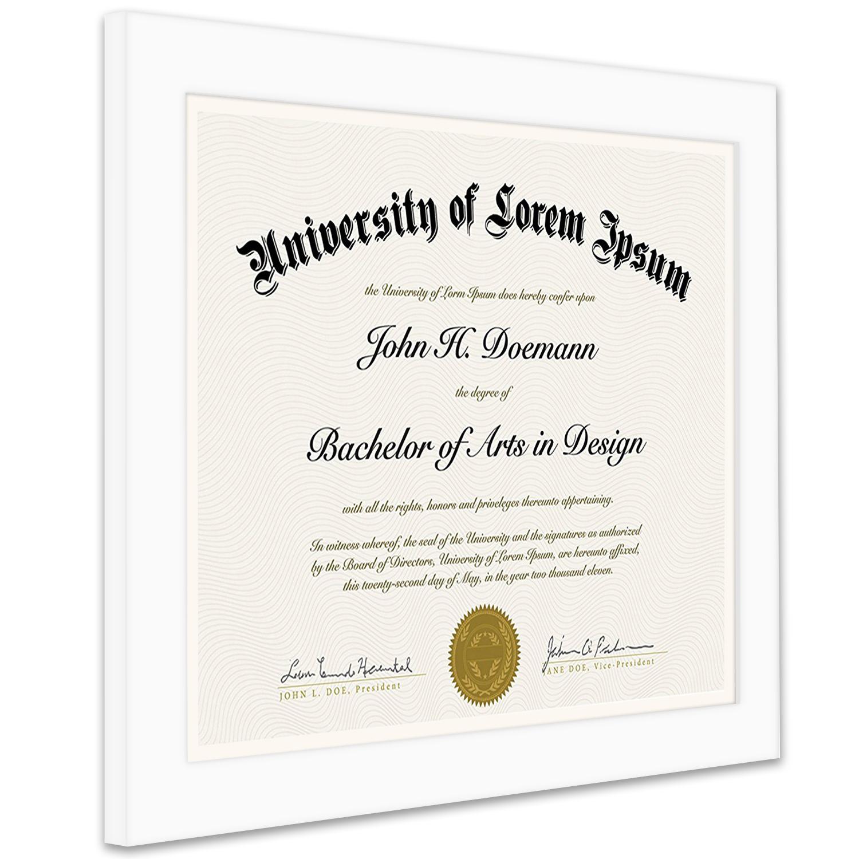 "miniature 28 - Americanflat Diploma Frame Tempered Glass - Hanging Hardware - 8.5"" x 11"""