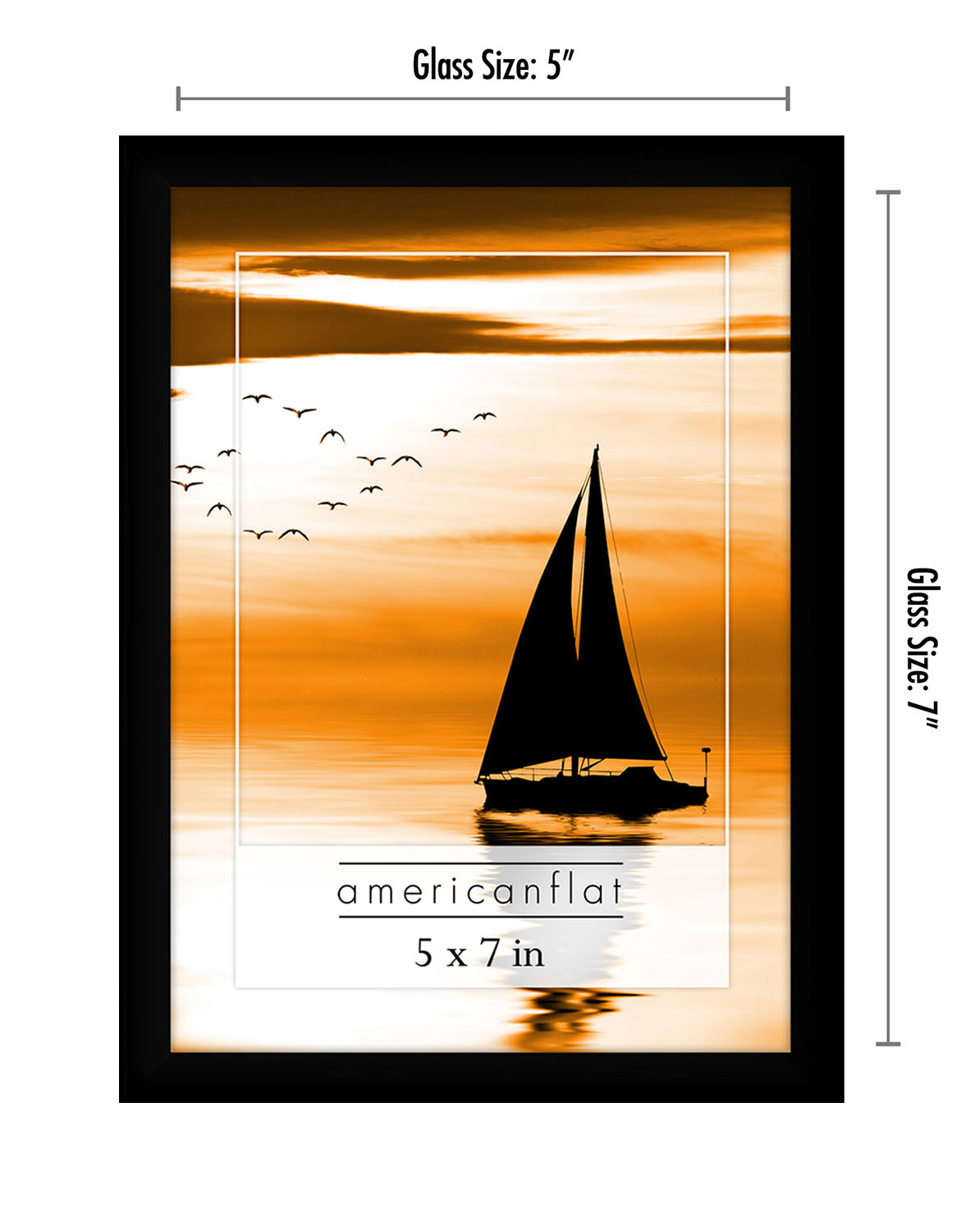 miniature 31 - Americanflat Picture Frame Black Plastic 4x6 5x7 8x10 Wall Tabletop 6 or 12 Pack