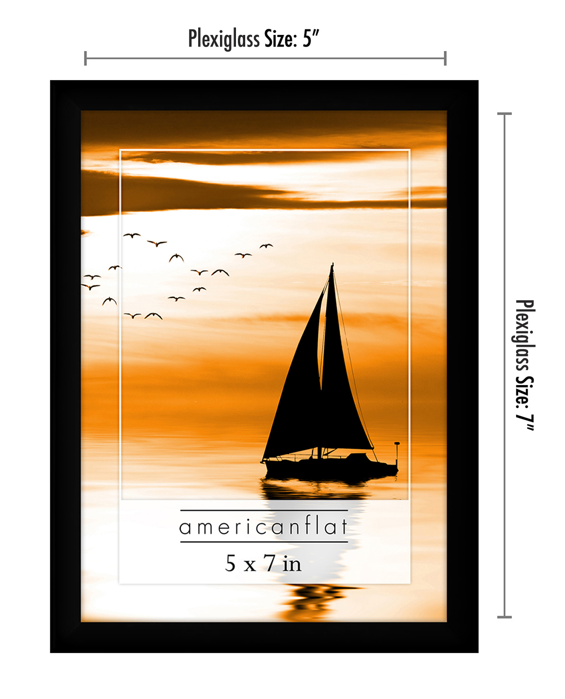 miniature 38 - Americanflat Picture Frame Black Plastic 4x6 5x7 8x10 Wall Tabletop 6 or 12 Pack
