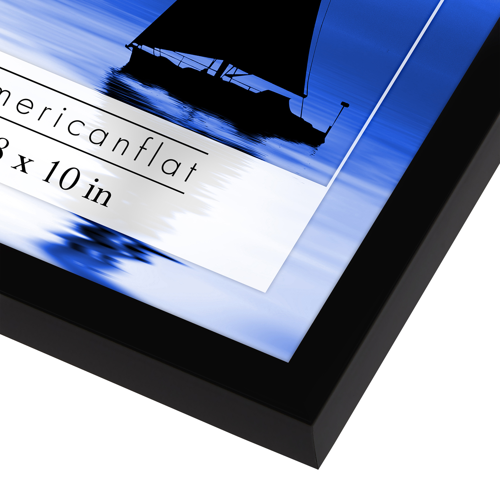 miniature 21 - Americanflat Picture Frame Black Plastic 4x6 5x7 8x10 Wall Tabletop 6 or 12 Pack