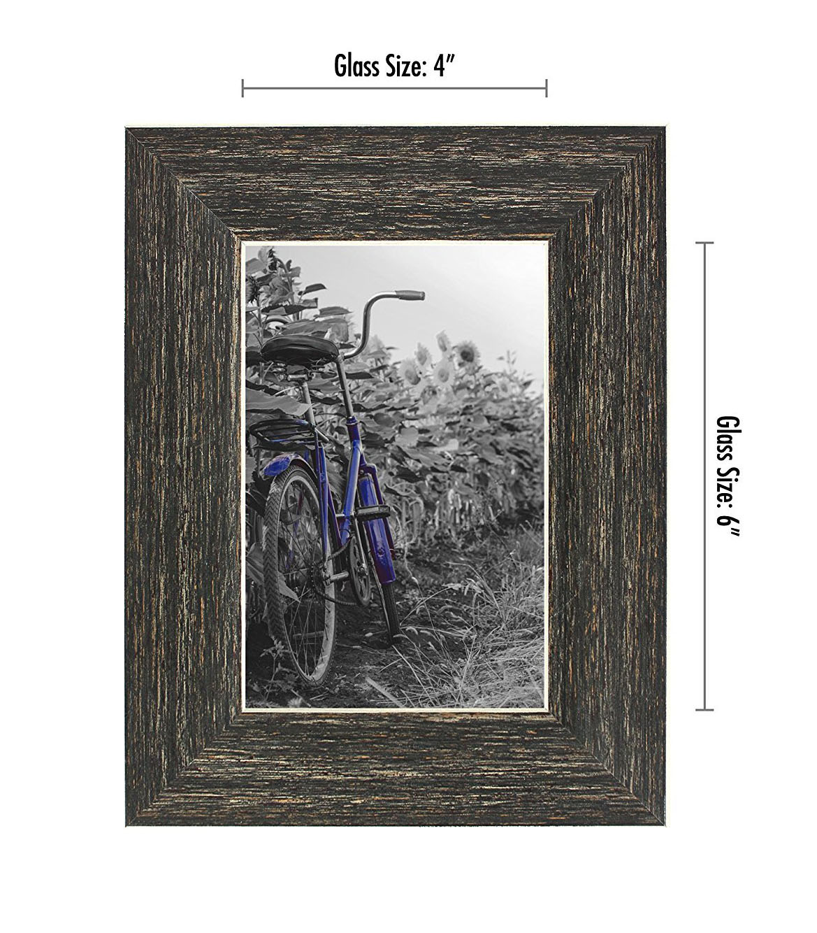 miniature 15 - Americanflat Picture Frame 4x6 5x7 8x10 (2) Pack Rustic Wood Wall or Tabletop