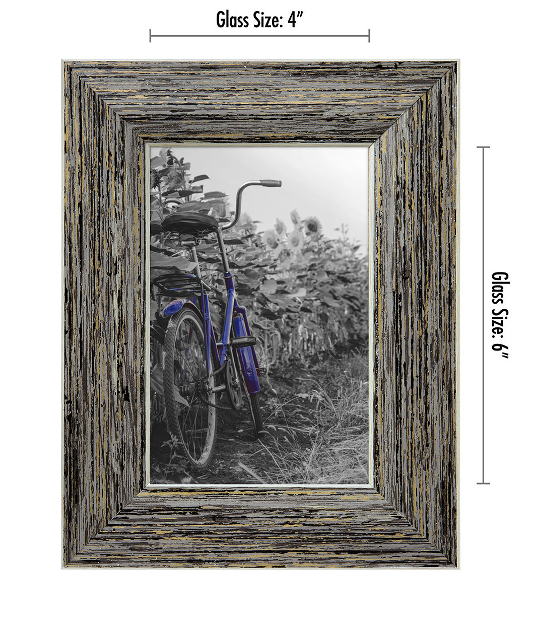 miniature 27 - Americanflat Picture Frame 4x6 5x7 8x10 (2) Pack Rustic Wood Wall or Tabletop