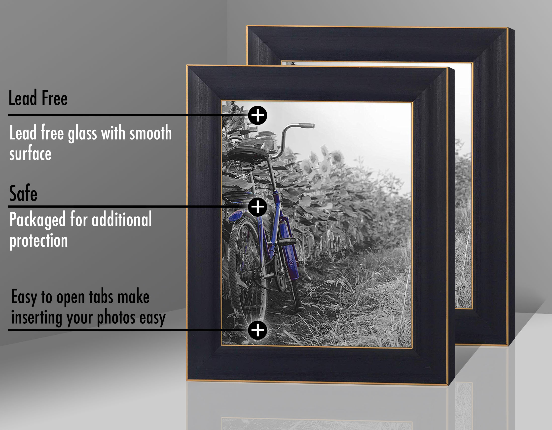 miniature 12 - Americanflat Picture Frame 4x6 5x7 8x10 (2) Pack Rustic Wood Wall or Tabletop