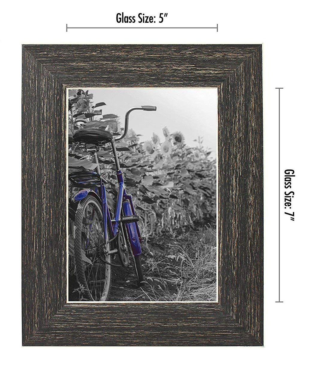 miniature 22 - Americanflat Picture Frame 4x6 5x7 8x10 (2) Pack Rustic Wood Wall or Tabletop