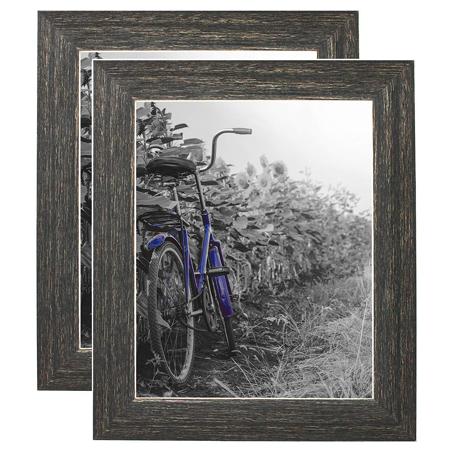 miniature 21 - Americanflat Picture Frame 4x6 5x7 8x10 (2) Pack Rustic Wood Wall or Tabletop