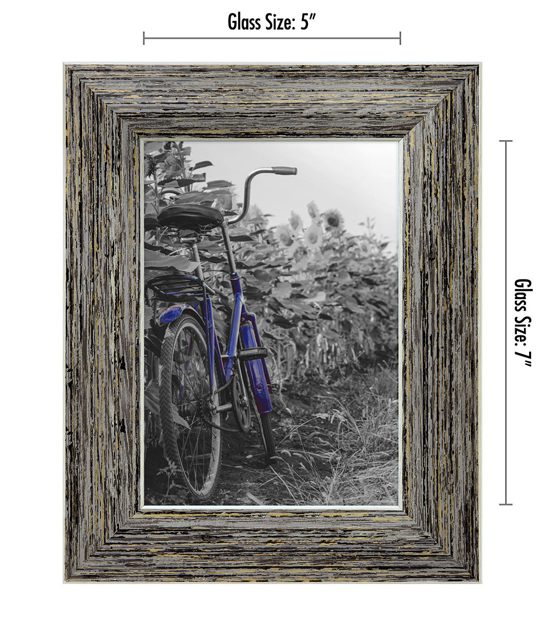 miniature 34 - Americanflat Picture Frame 4x6 5x7 8x10 (2) Pack Rustic Wood Wall or Tabletop