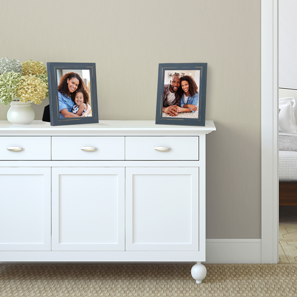 miniature 41 - Americanflat Picture Frame 4x6 5x7 8x10 (2) Pack Rustic Wood Wall or Tabletop