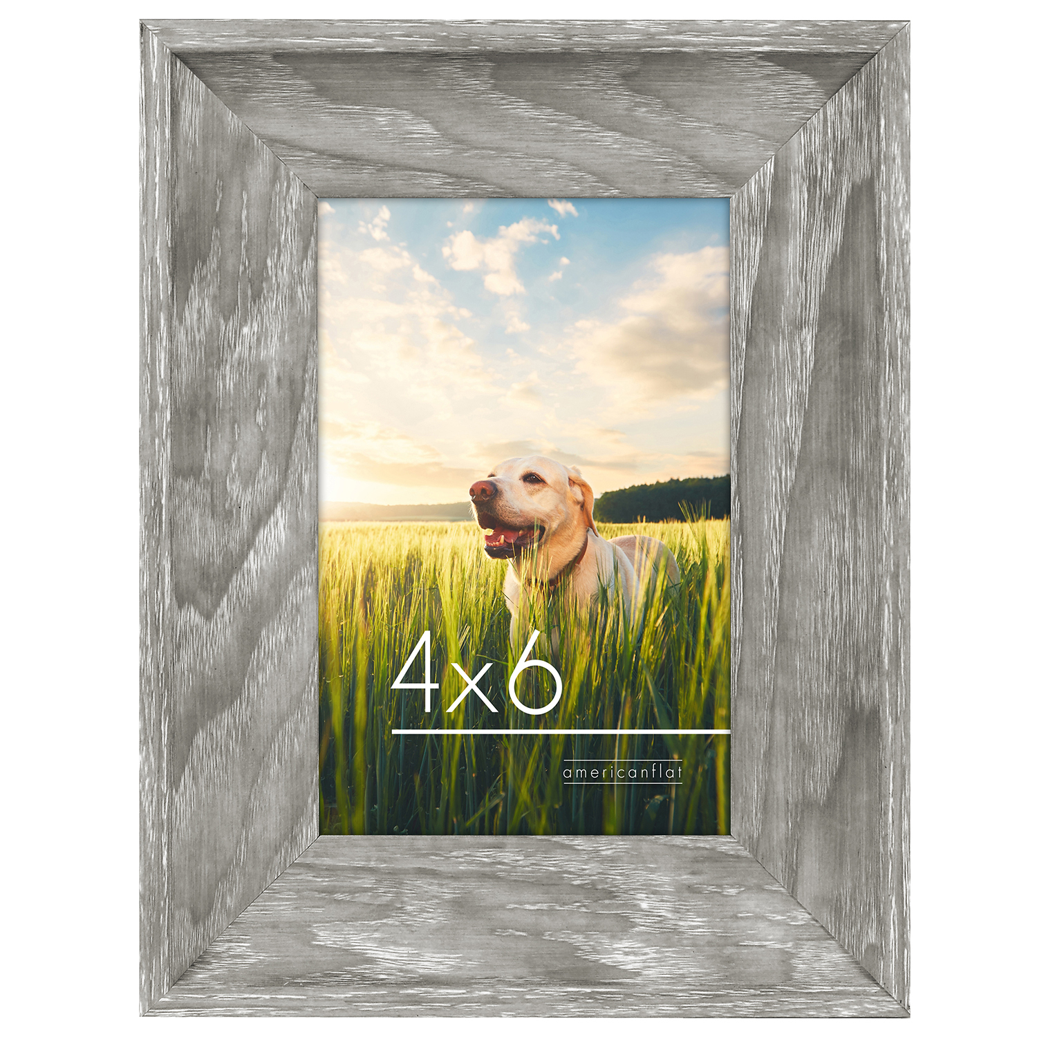 miniature 2 - Americanflat Wood Picture Frame 4x6 5x7 8x10 Wall Tabletop Easel Pick Size Color